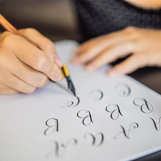 Calligraphy stars