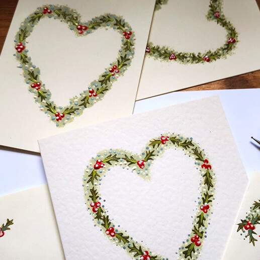Christmas folk art – card making
