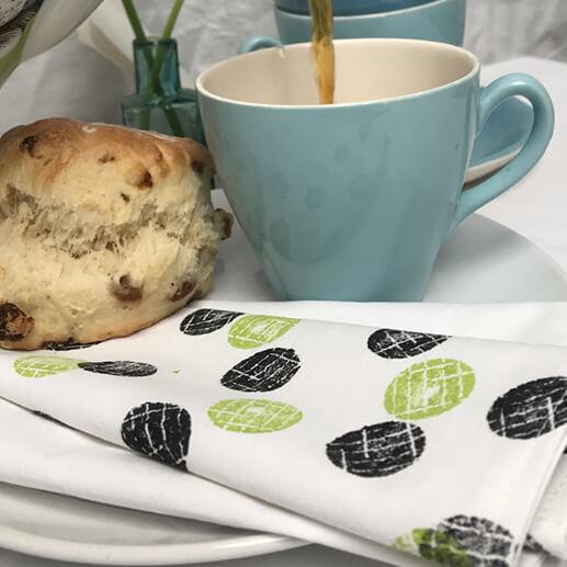 Printed napkins for a cream tea celebration