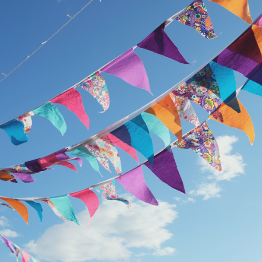 How to make vintage tea party bunting