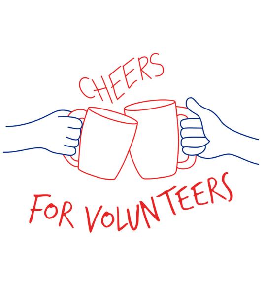 Cheers for Volunteers logo