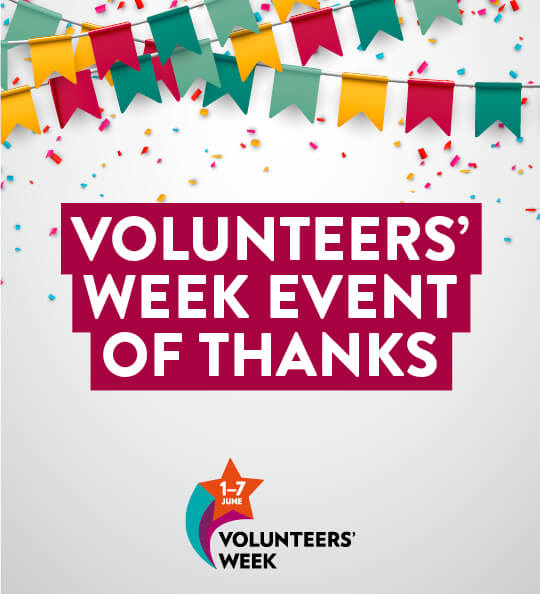 Volunteers' Week event graphic